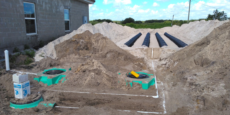 New Mound Septic System - Above Ground - Includes pump chamber, drain field and septic system